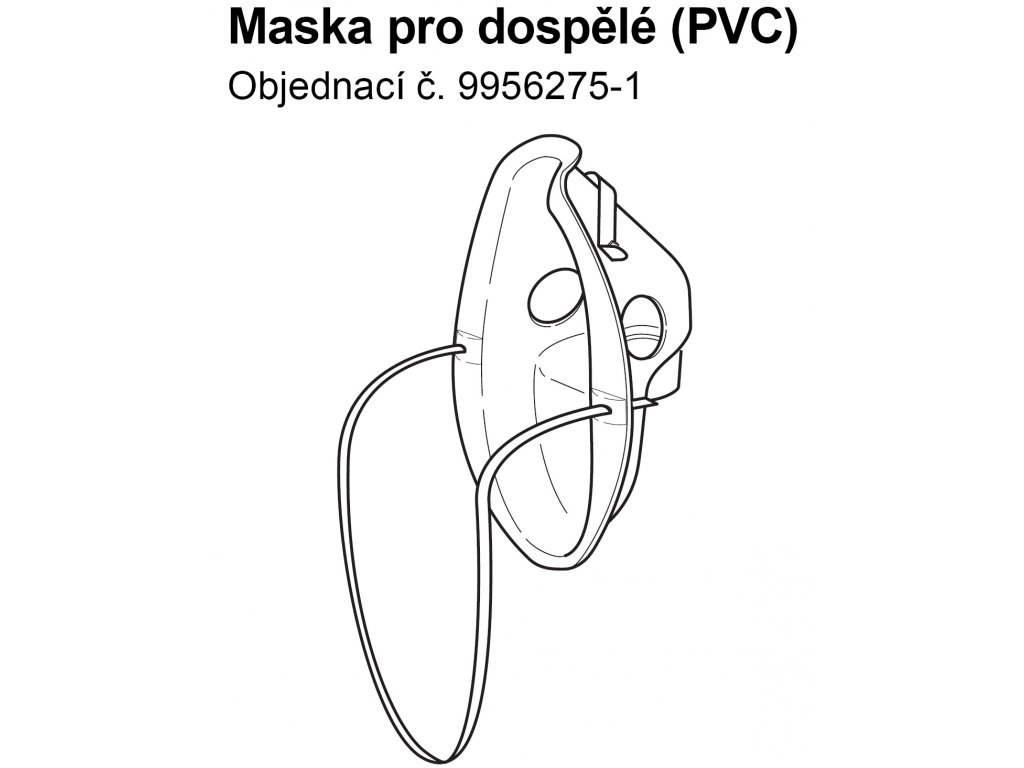 Maska PVC pro dospělé - C803, C802,C801,C801KD, C28, C28P, C29, C30,C900, CX Pro,CX3,NE-U22 a NE-U100