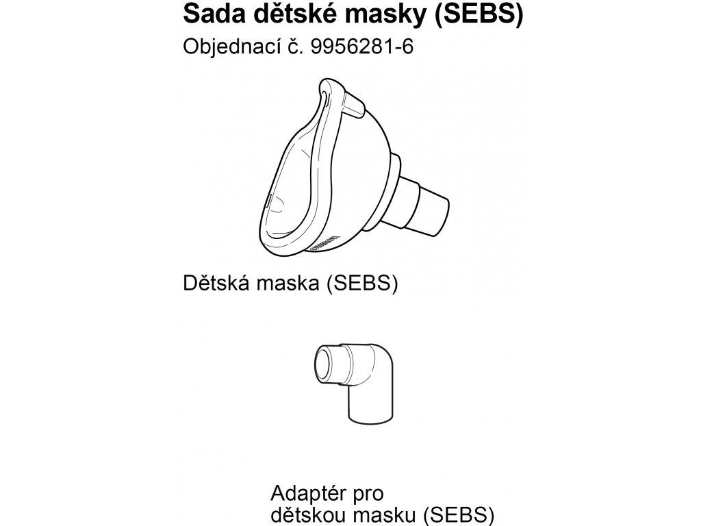 Maska SEBS pediatrická - C803, C802,C801,C801KD,C28, C28P, C29, C30, C900
