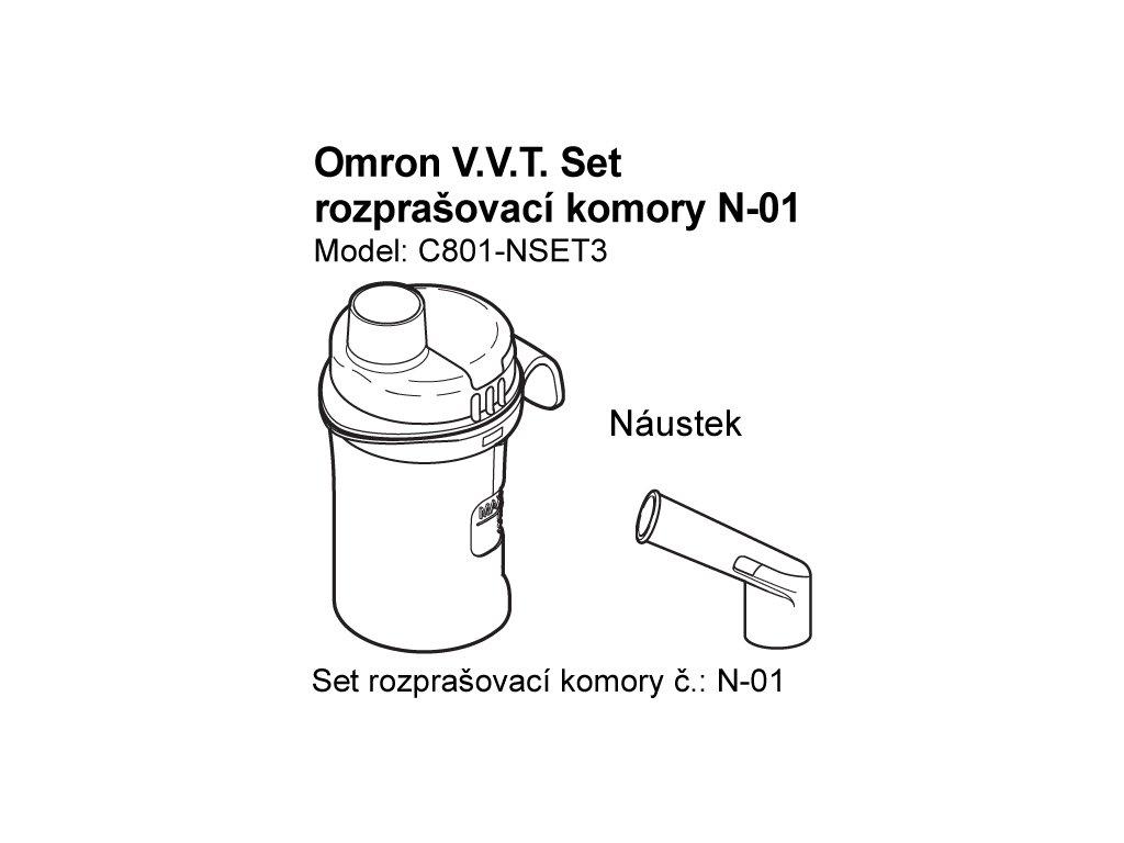 Set (rozprašovací komory + náustek) - C801,C801-KD, C28P