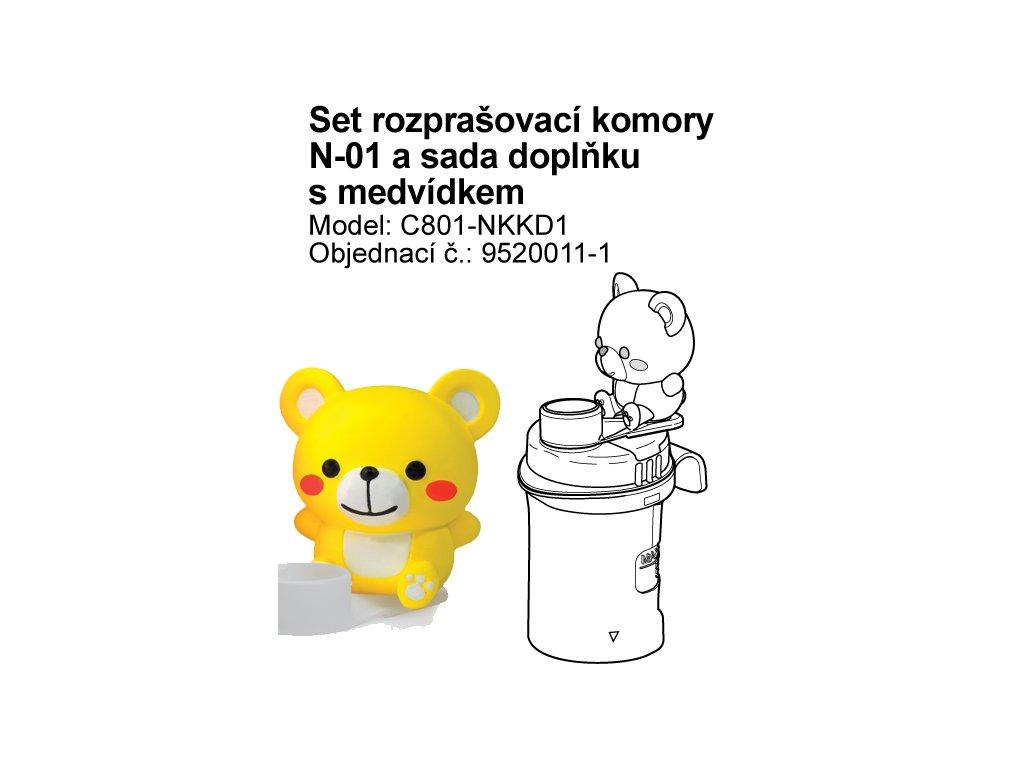 Set (rozprašovací komory bez náustku) vč. sady  doplňku s medvídkem - C801-KD