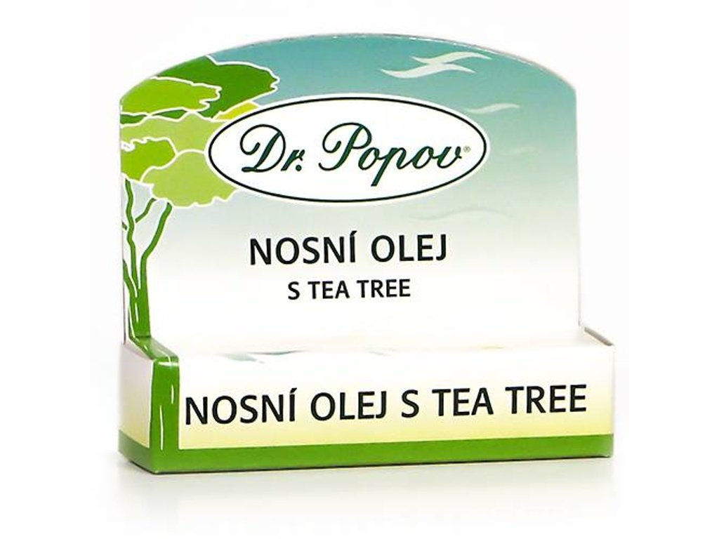 Dr. Popov -   Nosní olej s Tea Tree olejem, 6 ml, roll – on