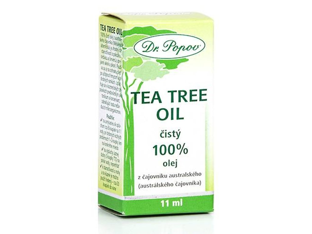 Dr. Popov - Tea Tree Oil 100%, (obsah 11 ml, 25 ml) - DOPRODEJ