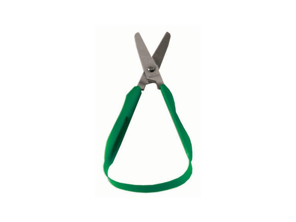 Nůžky s automatickým rozevíráním, se zaobl. ostřím,pro leváky, 4,5 cm