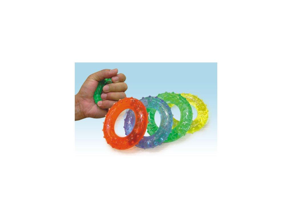 Kroužky gelové. posilovací - masážní  Gymy, 7cm -Žluté (EXTRA SLABÉ)