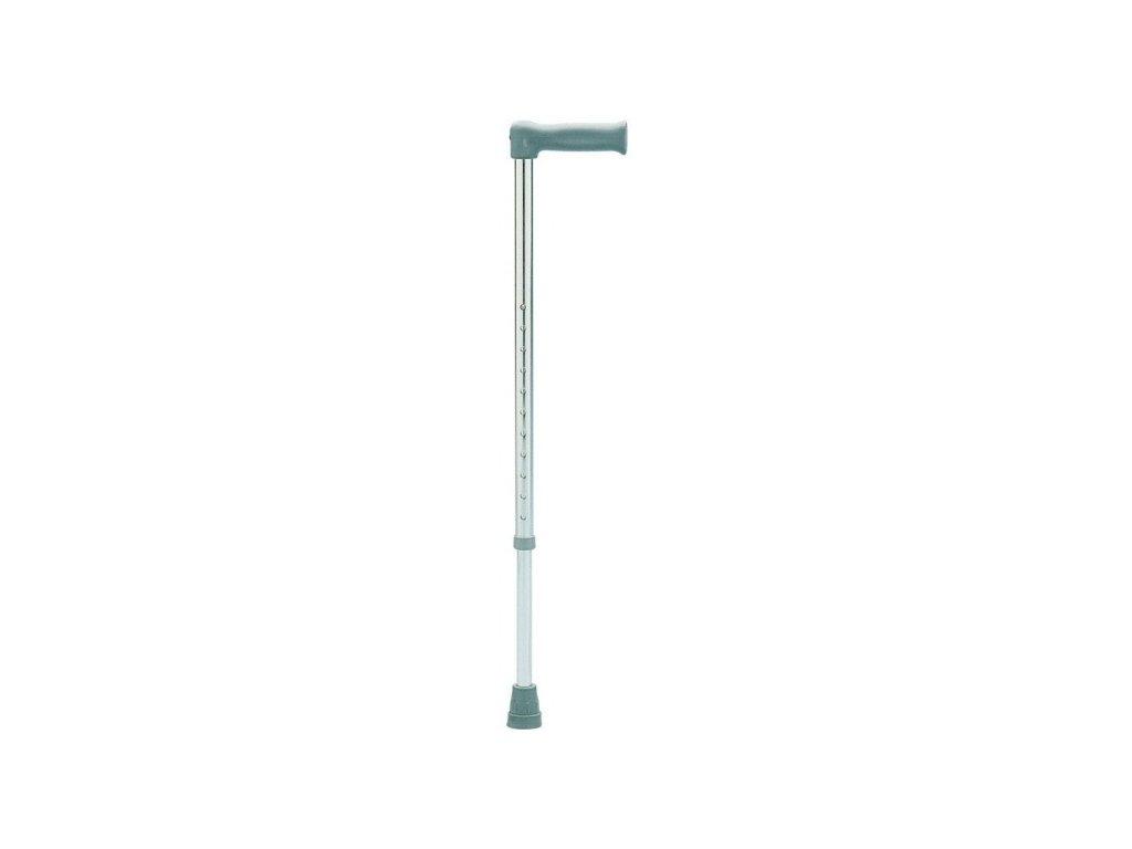 Duralová podpůrná hůl, 74-99 cm, rovná rukojeť