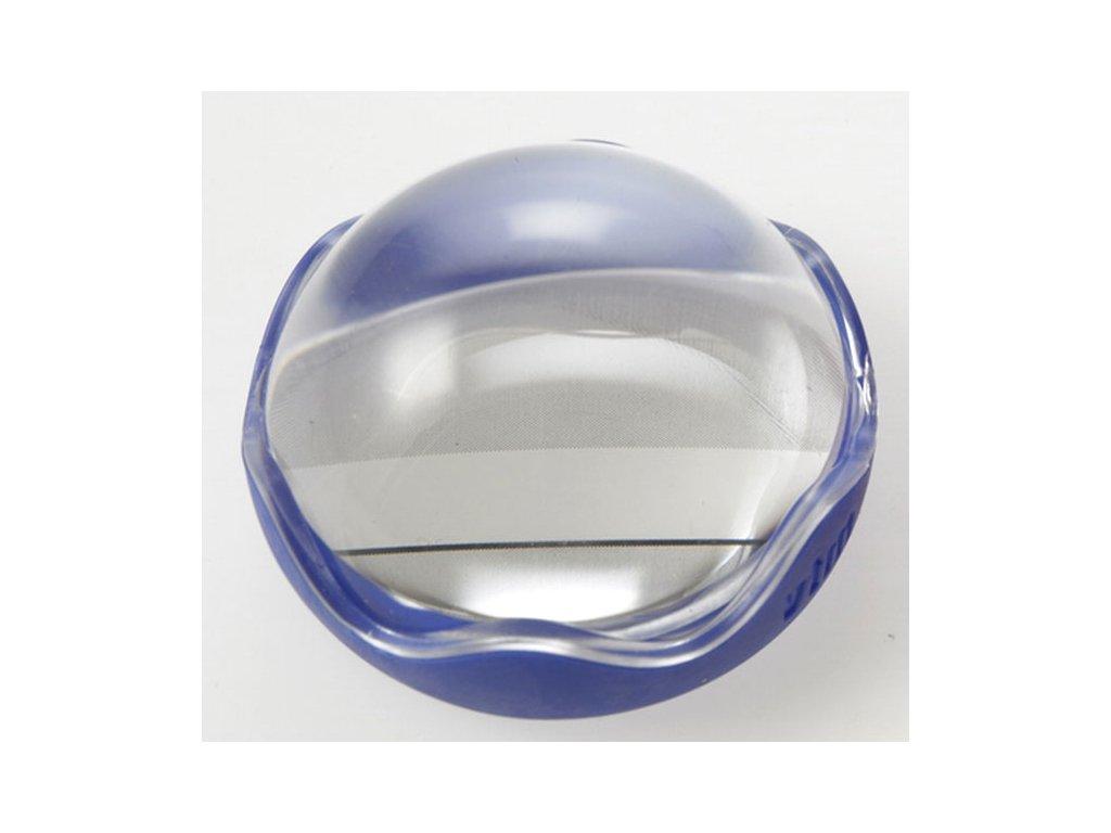 Lupa pro dyslektiky - příložní polokoule s řádkem 50 mm, modrá, zvětšení 4x