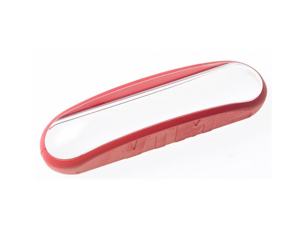 Lupa obdélníková - příložní polokoule bez řádku, zvětšení  až 1,5x