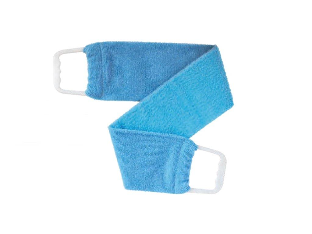 Masážní a peelingový pás - světle modrý