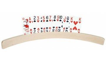 Stojánek na hrací karty dřevěný pro seniory, 50 cm