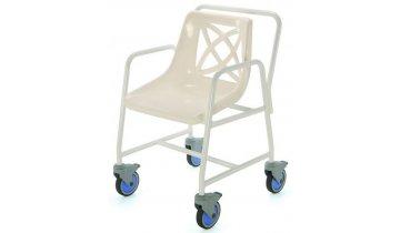 Židle do sprchy pojízdná s výškou sedu 46 cm