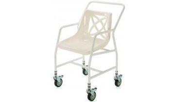 Židle do sprchy pojízdná s nastavitelnou výškou 48,5 - 60 cm