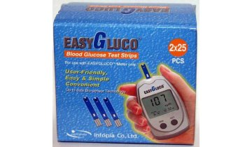 Testovací proužky do glukometru EasyGluco, 50 ks