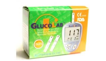 Testovací proužky do glukometru GlucoLab, 50 ks