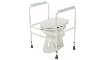 Podpěra na WC s madly přenosná, bílá