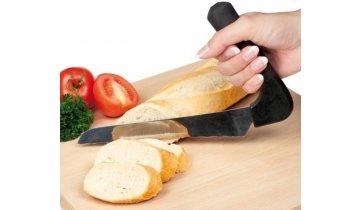 Nůž se zahnutou rukojetí na krájení chleba