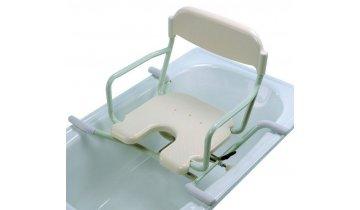 Otočná sedačka do vany závěsná s výřezem