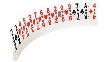 Stojánek na hrací karty plastový pro seniory s variabilní délkou, délka 17 - 50 cm