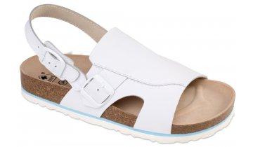 Milano - sandály rovné, bílá, různé velikosti