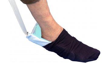 Nazouvák ponožek textilní s plastovou vložkou