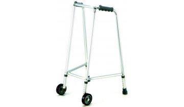 Chodítko pro seniory s předními kolečky, duralový úzký rám