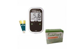 Akce -Glukometr SD-CODEFREE PLUS Kompletní SET (přístroj, 50proužků, pero +10 jehliček)