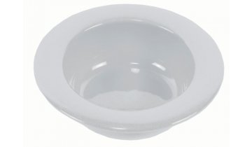 Keramická miska s vyvýšeným okrajem, bílá - DOPRODEJ
