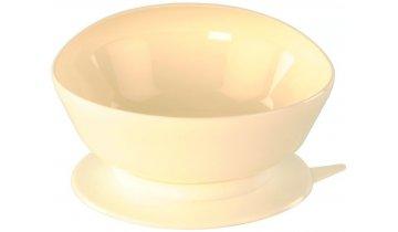 Jídelní miska s extra vyvýšeným okrajem s protiskluzovou podložkou