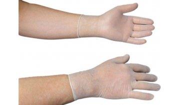 Jednorázové latexové rukavice sterilní, bez pudru, 2 ks v balení, vel. 8,5  OPRAVDU SKLADEM