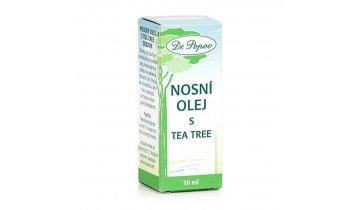 Dr. Popov -  Nosní olej s Tea Tree, 10 ml - DOPRODEJ