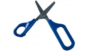 Nůžky s velkými otvory pro prsty se zaobl. ostřím a pružinou, pro praváky, 4,5 cm - DOPRODEJ