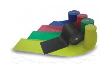 Gumová stuha GYMY na cvičení 1,2m -extra slabá 0,20mm -žlutá
