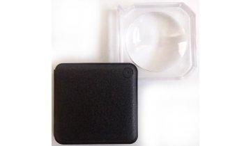Lupa kapesní vyklápěcí s pouzdrem 4 cm, zvětšení 3x