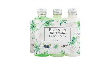 Botanica cestovní balení – gel 75ml, šampon 75ml, mléko 75ml konopí