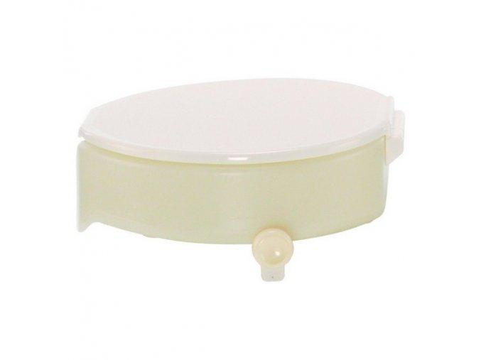 Nástavec na WC plastový s poklopem a fix. šrouby, výška 10 cm