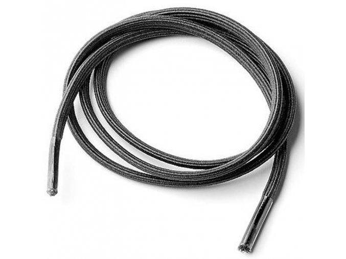 Elastické tkaničky pro seniory, černé, 2 páry v balení, různé délky