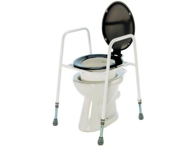 Nástavec na WC přenosný s poklopem a madly, 69-85 cm