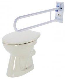 Madlo na WC sklopné se zdvojenou rukojetí