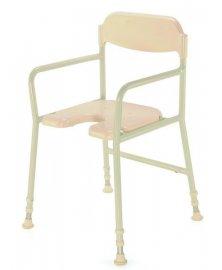 Židle do sprchy s nastavitelnou výškou a područkami