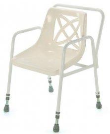 Židle do sprchy s nastavitelnou výškou s područkami