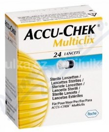 Lancety / jehly Accu-Chek Multiclix pro odběrová pera, 24 ks