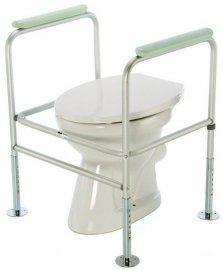 Podpěra na WC s madly upevněná do podlahy, chromová