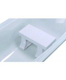 Plastová sedačka do vany s přísavkami a protiskluzovým sedátkem, výška 16,5 cm nebo 21,5 cm
