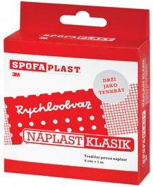 SpofaPlast Klasik - nedělená textilní náplast, 6 cm x 1 m
