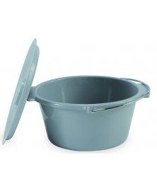 Toaletní nádoba pro klozetová křesla, plastová s víkem