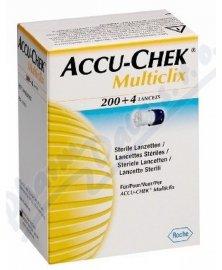 Lancety / jehly Accu-Chek Multiclix pro odběrová pera, 204 ks