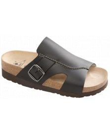 Milano - zdravotní pantofle na klínku, černá, různé velikosti