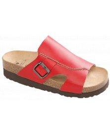 Milano - zdravotní pantofle na klínku, červená, různé velikosti