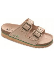 PKS2 - zdravotní pantofle na klínku, béžová, různé velikosti