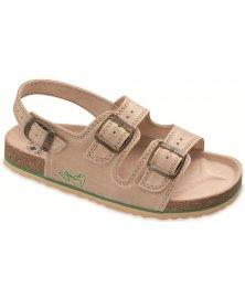 SRS2 - sandály rovné, béžová, různé velikosti