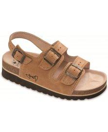 SKT2 - sandály na klínku, písková, různé velikosti
